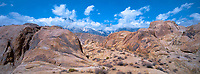 902000037 panoramic view of a clearing morning storm over the granite boulder ins the alabama hills eastern sierras california