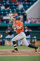 Bradenton Marauders Logan Hill (15) bats during the Florida State League All-Star Game on June 17, 2017 at Joker Marchant Stadium in Lakeland, Florida.  FSL North All-Stars defeated the FSL South All-Stars  5-2.  (Mike Janes/Four Seam Images)