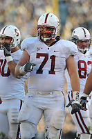 South Bend, IN - OCTOBER 4:  Offensive guard Andrew Phillips #71 of the Stanford Cardinal during Stanford's 28-21 loss against the Notre Dame Fighting Irish on October 4, 2008 at Notre Dame Stadium in South Bend, Indiana.