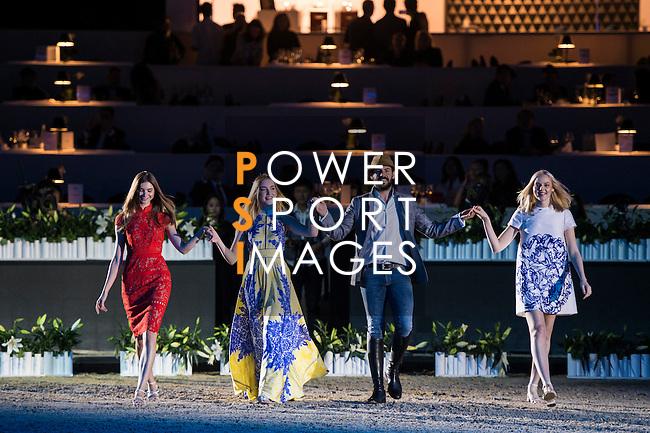 Santi Serra performs his show presented by Shanghai Tang at the Longines Masters of Hong Kong on 10 February 2017 at the Asia World Expo in Hong Kong, China. Photo by Marcio Rodrigo Machado / Power Sport Images