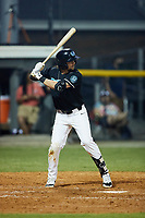AJ Fritz (9) (SCF Manatee) of the Danville Otterbots at bat against the Burlington Sock Puppets at Burlington Athletic Park on June 5, 2021 in Burlington, North Carolina. (Brian Westerholt/Four Seam Images)