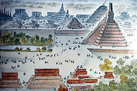 World Civilization:  Mayan Culture--Tikal, West Plaza, Temple III; in the background. triple ball court & plaza of the Seven Temples.