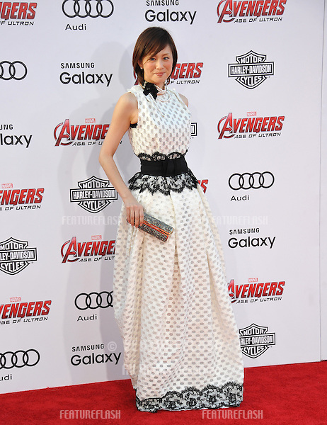 """Ryoko Yonekura at the world premiere of """"Avengers: Age of Ultron"""" at the Dolby Theatre, Hollywood.<br /> April 13, 2015  Los Angeles, CA<br /> Picture: Paul Smith / Featureflash"""