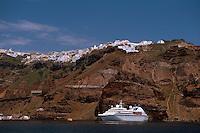 der Ort Fira, Insel Santorin (Santorini), Griechenland, Europa