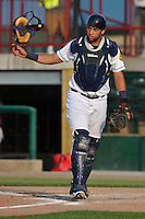 Burlington Bees Webster Rivas (14) during the Midwest League game against the Peoria Chiefs at Community Field on June 9, 2016 in Burlington, Iowa.  Peoria won 6-4.  (Dennis Hubbard/Four Seam Images)