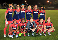 Boyds, MD - Friday Sept. 30, 2016: Washington Spirit starting eleven prior to a National Women's Soccer League (NWSL) semi-finals match between the Washington Spirit and the Chicago Red Stars at Maureen Hendricks Field, Maryland SoccerPlex. The Washington Spirit won 2-1 in overtime.