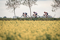 Femke Markus (NED/Parkhotel Valkenburg), Jesse Vandenbulcke (BEL/Lotto-Soudal) & Lonneke Uneken (NED/Boels - Dolmans) racing in the open (and infamously windy) Moeren<br /> <br /> AG Driedaagse Brugge-De Panne 2020 (1.WWT)<br /> 1 day race from Brugge to De Panne (156km) <br /> <br /> ©kramon