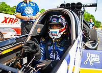 May 4, 2018; Commerce, GA, USA; NHRA funny car driver Antron Brown during qualifying for the Southern Nationals at Atlanta Dragway. Mandatory Credit: Mark J. Rebilas-USA TODAY Sports