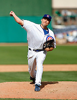 Jeff Stevens - Chicago Cubs - 2009 spring training.Photo by:  Bill Mitchell/Four Seam Images