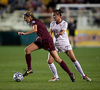 Carson Pickett, Shannon Mayrose. Florida State defeated Virginia Tech, 3-2,  at the NCAA Women's College Cup semifinals at WakeMed Soccer Park in Cary, NC.