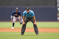 Umpire Casey James during a game between the Lakeland Flying Tigers and Tampa Tarpons on July 18, 2021 at George M. Steinbrenner Field in Tampa, Florida.  (Mike Janes/Four Seam Images)