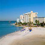 USA, Florida, Clearwater Beach: view over Beach & Hotels | USA, Florida, Clearwater Beach: Beach und Hotels