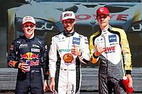 5th September 2021; Red Bull Ring, Spielberg, Austria; DTM Race 2 at Spielberg;  Liam Lawson NZ, Ferrari 488 GT3, Red Bull Alpha Tauri AF Corse 11 Marco Wittmann D, BMW M6GT3, Walkenhorst Motorsport 31 Sheldon van der Linde RSA, BMW M6 GT3, Rowe Racing take pole position in qualifying