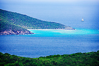 Hnas Lolick Island as seen from St. Thomas. Us Virgin Islands.
