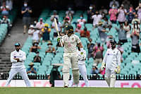 7th January 2021; Sydney Cricket Ground, Sydney, New South Wales, Australia; International Test Cricket, Third Test Day One, Australia versus India; Will Pucovski of Australia celebrates scoring a half century on his debut