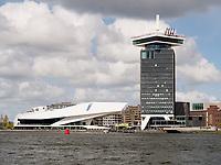 Eye Filmmuseum und A'DAM Toren, Amsterdam, Provinz Nordholland, Niederlande<br /> Eye Filmmuseum and A'DAM Toren, Amsterdam, Province North Holland, Netherlands