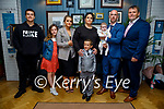 The christening of Willow Carroll from Tralee on Saturday in the Ashe Hotel, l to r: Cruz Bauschlicher, Meadow and Faylin Carroll, Dione Bauschlicher, Sabina, Willow and Stephen Carroll and Robert Powell.
