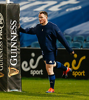 19th March 2021; RDS Arena, Dublin, Leinster, Ireland; Guinness Pro 14 Rugby, Leinster versus Ospreys; Peter Dooley of Leinster warms up prior to kickoff