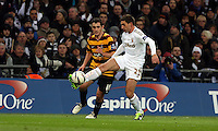 Pictured: (L-R) Carl McHugh, Angel Rangel. Sunday 24 February 2013<br /> Re: Capital One Cup football final, Swansea v Bradford at the Wembley Stadium in London.