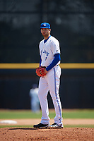 Dunedin Blue Jays starting pitcher T.J. Zeuch (32) gets ready to deliver a pitch during a game against the Daytona Tortugas on April 22, 2018 at Dunedin Stadium in Dunedin, Florida.  Daytona defeated Dunedin 5-1.  (Mike Janes/Four Seam Images)