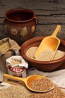 """Europe/Pologne/Varsovie: Grains de sarrasin ou d'avoine pour préparer le gruau au restaurant """"Gessler"""""""