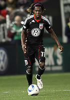 Joseph Ngwenya (11) of D.C. United during an MLS match against the New York Red Bulls at RFK Stadium, in Washington D.C. on April 21 2011. Red Bulls won 4-0.