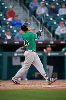 Norfolk Tides Ryan Mountcastle (20) at bat during an International League game against the Buffalo Bisons on June 21, 2019 at Sahlen Field in Buffalo, New York.  Buffalo defeated Norfolk 1-0, the second game of a doubleheader.  (Mike Janes/Four Seam Images)