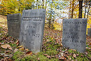 Graveyard at Thornton Gore in Thornton, New Hampshire during the autumn months. This was an old hill farm community that was abandoned during the 19th century.