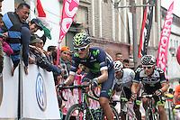 TUNJA - COLOMBIA- 21- 02-2016: Winner Anacona (C) durante la prueba ruta categoría Elite hombres con recorrido entre las ciudades de Sogamoso y Tunja en una distancia 174,6 km kilometros de Los Campeonato Nacionales de Ciclismo 2016, que se realizan en Boyaca. / Winner Anacona during the Elite test individual route men conducted  between the towns of Sogamoso and Tunja at a distance of 174,6 km of the National Cycling Championships 2016 performed in Boyaca. / Photo: VizzorImage / Cesar Melgarejo / Cont.