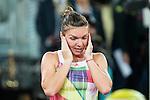 Romanian Simona Halep celebrating the victory during WTA Final Mutua Madrid Open Tennis 2016 in Madrid, May 07, 2016. (ALTERPHOTOS/BorjaB.Hojas)