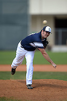UW-Stout Blue Devils pitcher Austin Booher (24) during the second game of a doubleheader against the Edgewood Eagles on March 16, 2015 at Lee County Player Development Complex in Fort Myers, Florida.  UW-Stout defeated Edgewood 8-2.  (Mike Janes/Four Seam Images)
