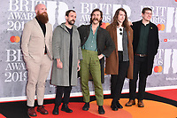 Idles<br /> arriving for the BRIT Awards 2019 at the O2 Arena, London<br /> <br /> ©Ash Knotek  D3482  20/02/2019<br /> <br /> *images for editorial use only*