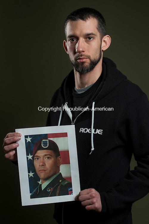 WATERBURY, CT- 23 May 2016-052316EC17-  Matt Harrington served in Iraq and Afghanistan. Erin Covey Republican-American