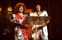 July 1993 file photo - Montreal Qc) CANADA - Festival Juste Pour Rire : marie-Lise Pilote (L), Patrick Huard (R)