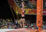 Wales Sally Peake competes in the Woman's Pole Vault Final <br /> <br /> *This image must be credited to Ian Cook Sportingwales and can only be used in conjunction with this event only*<br /> <br /> 21st Commonwealth Games - Athletics - Day 9 - 13\04\2018 - Carrara Stadium - Gold Coast City - Australia