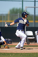 San Diego Padres Kodie Tidwell (18) during an instructional league game against the Texas Rangers on October 9, 2015 at the Surprise Stadium Training Complex in Surprise, Arizona.  (Mike Janes/Four Seam Images)
