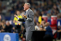 CARSON, CA - SEPTEMBER 15: Head coach Peter Vermes of Sporting Kansas City has a few words during a game between Sporting Kansas City and Los Angeles Galaxy at Dignity Health Sports Park on September 15, 2019 in Carson, California.