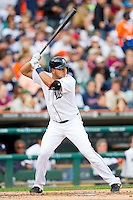 Jhonny Peralta (27) of the Detroit Tigers at bat against the Tampa Bay Rays at Comerica Park on June 4, 2013 in Detroit, Michigan.  The Tigers defeated the Rays 10-1.  Brian Westerholt/Four Seam Images