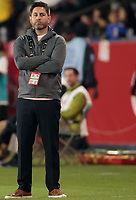 CARSON, CA - FEBRUARY 7: Mexico head coach Christopher Cuellar during a game between Mexico and USWNT at Dignity Health Sports Park on February 7, 2020 in Carson, California.