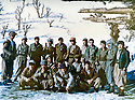 Iraq 1980 <br />  Group of peshmergas in winter in Nawzang   <br /> Irak 1980 <br /> Groupe de peshmergas a Nawzang en hiver.