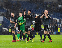 Players applaud their fans at the final whistle after their 3-1 victory over Brighton & Hove Albion<br /> <br /> Photographer David Horton/CameraSport<br /> <br /> The Premier League - Brighton and Hove Albion v Burnley - Saturday 9th February 2019 - The Amex Stadium - Brighton<br /> <br /> World Copyright © 2019 CameraSport. All rights reserved. 43 Linden Ave. Countesthorpe. Leicester. England. LE8 5PG - Tel: +44 (0) 116 277 4147 - admin@camerasport.com - www.camerasport.com