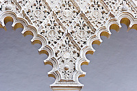 marble work, Patio de las Doncellas, Real Alcazar, Sevilla, Spain