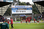 St Johnstone v Galatasaray…12.08.21  McDiarmid Park Europa League Qualifier<br />The Galatasaray players warm-up before kick off<br />Picture by Graeme Hart.<br />Copyright Perthshire Picture Agency<br />Tel: 01738 623350  Mobile: 07990 594431