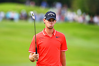 Thomas Pieters on the 18th green during the BMW PGA Golf Championship at Wentworth Golf Course, Wentworth Drive, Virginia Water, England on 27 May 2017. Photo by Steve McCarthy/PRiME Media Images.