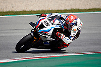 1st April 2021; Circuit de Barcelona Catalunya, Barcelona, Spain; FIM Superbike World Championship Testing; Tom Sykes of the MW Motorrad WORLDSBK Team in action with the BMW S1000 RR