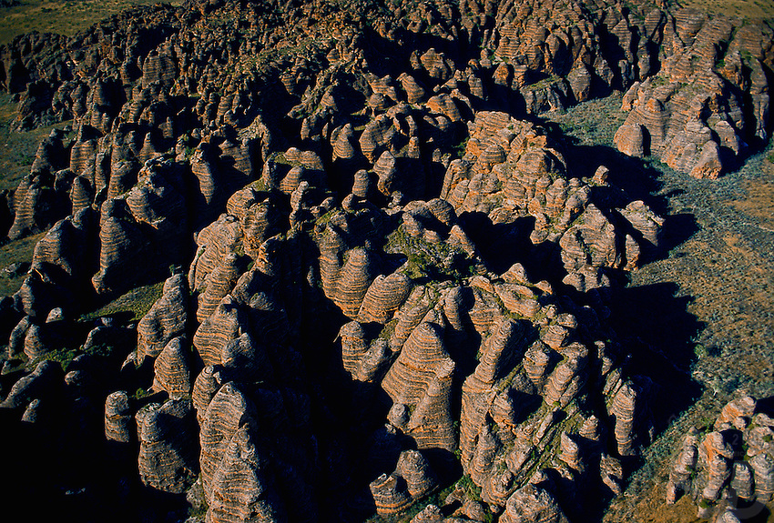 Aerial view of the Bungle Bungle National park, Western Australia PURNULULU NATIONAL PARK, WA. Purnululu National Park in Western Australia comprises the Bungle Bungle Range; its distinctive beehive formation was shaped by 20 million years of erosion and uplift. The area has been used by Aboriginal people for thousands of years as a hunting ground during the wet season when plant and animal life is more abundant. As a result it is rich in Aboriginal artwork and burial sites, but few Europeans knew of its existence until the mid-1980s. The area was declared a national park in 1987, and a World Heritage Site in 2003 (for natural beauty) and again in 2005 (for cultural significance).