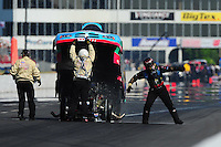 May 14, 2011; Commerce, GA, USA: NHRA funny car driver Brian Thiel during qualifying for the Southern Nationals at Atlanta Dragway. Mandatory Credit: Mark J. Rebilas-