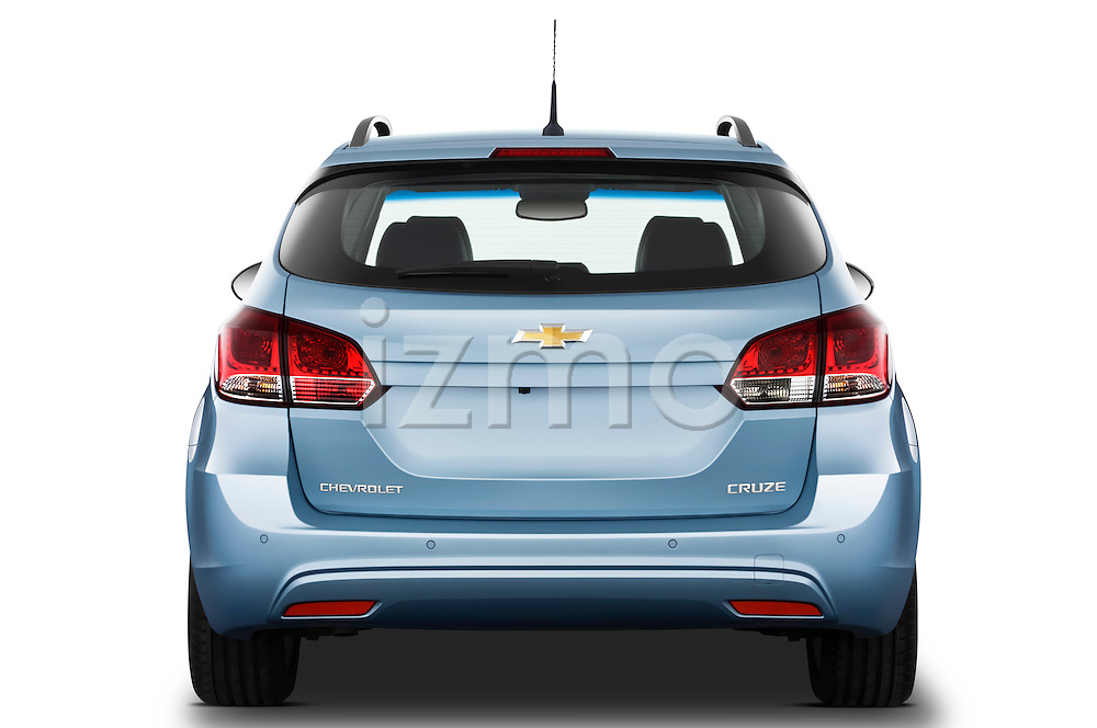 Straight rear view of a 2013 Chevrolet Cruze SW LTZ wagon