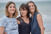 CABOURG, FRANCE - JUNE 15: Actresses Alma Jodorowsky (L), Maryline Canto and Camille Chamoux (R) attend 'le ciel etoile au-dessus de ma tete' photocall during the 2nd day of 31st Cabourg Film Festival on June 15, 2017 in Cabourg, France. # FESTIVAL DE CABOURG