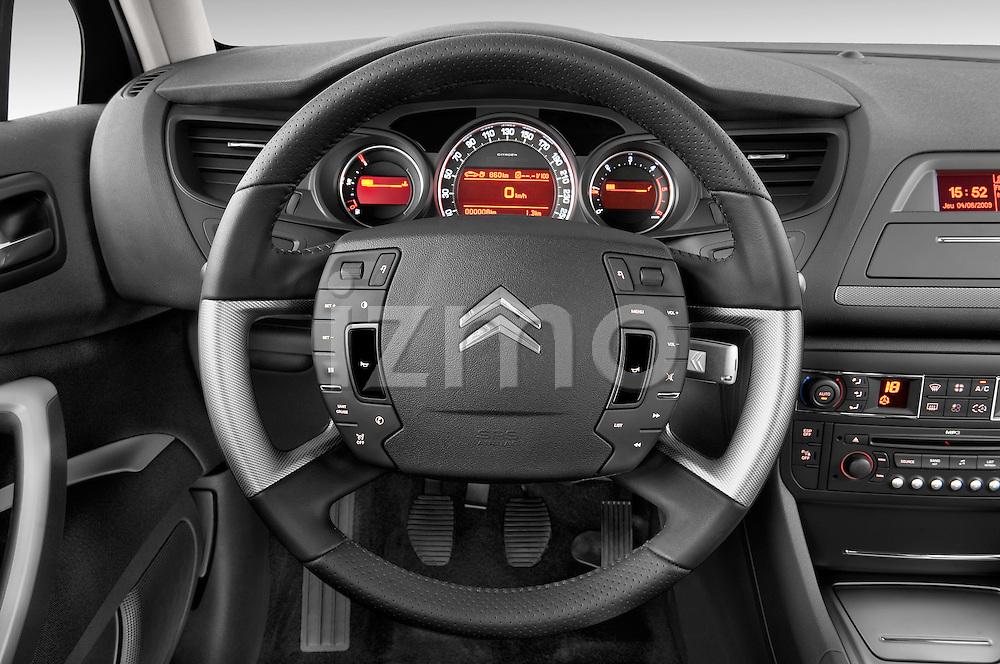 Steering wheel view of a 2010 Citroen C5 Confort 4 Door Sedan 2WD